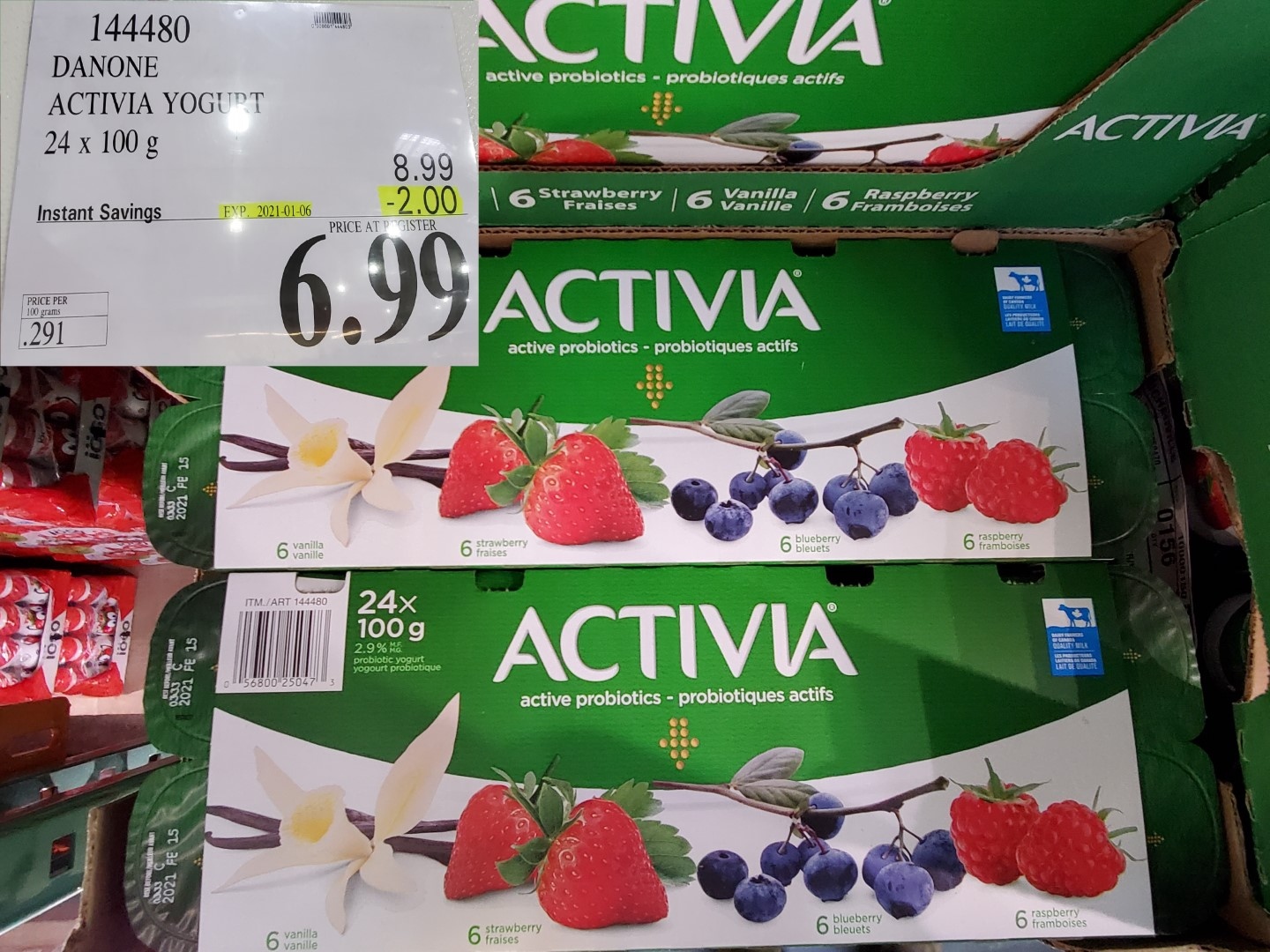 Costco Sale activia yogurt
