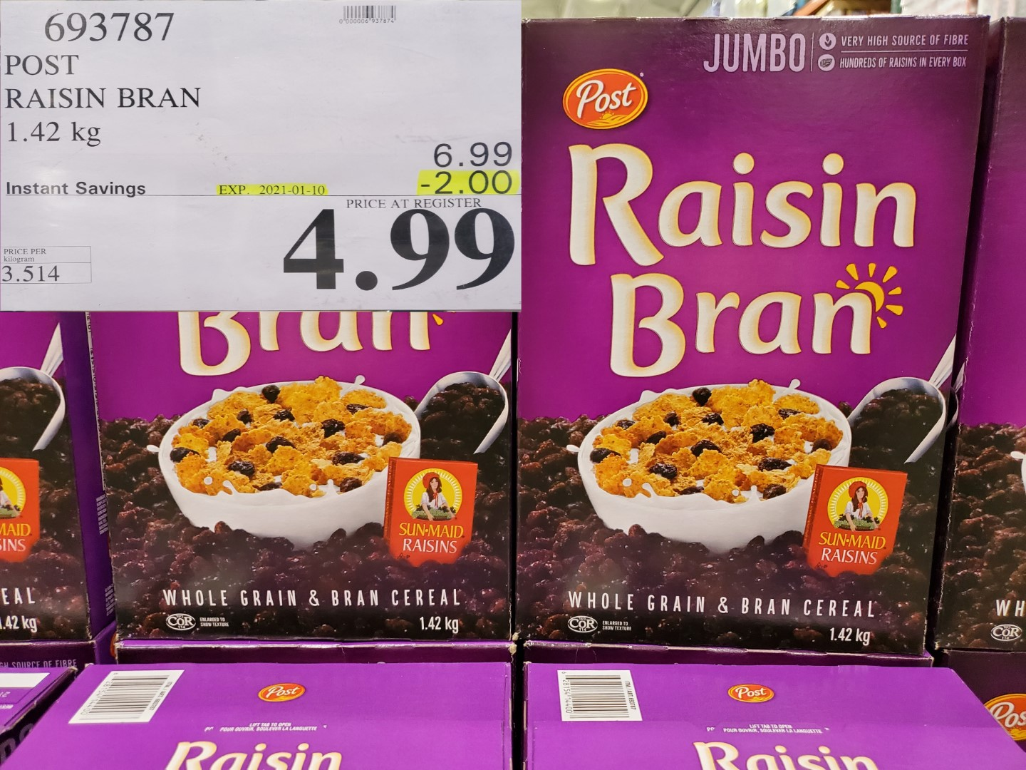 Costco Sale post raisin bran