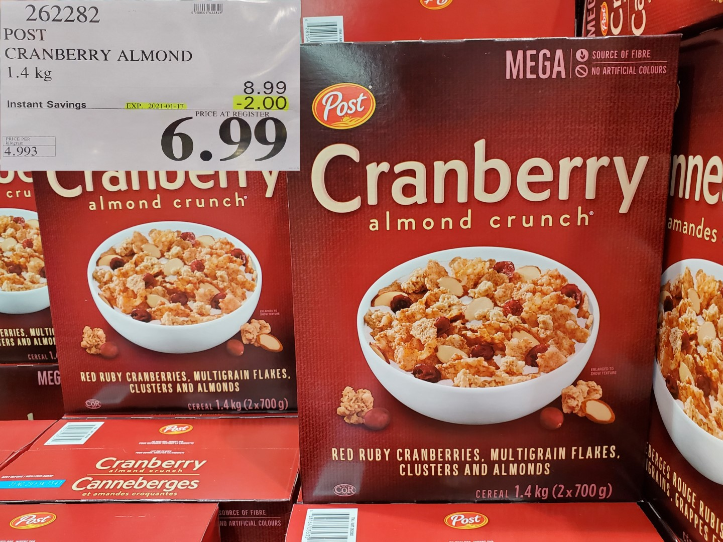 Costco Sale post cranberry almond crunch