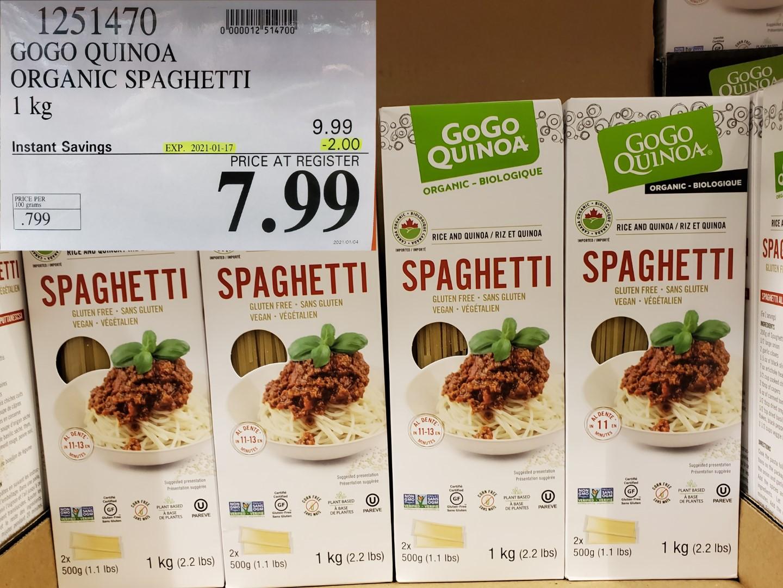 Costco Sale gogo quinoa spaghetti