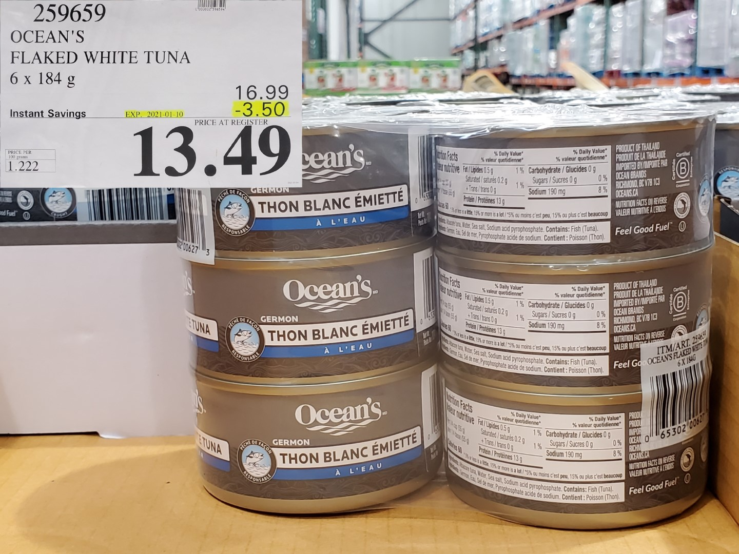 Costco Sale oceans flake white tuna