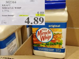 Costco Sale miracle whip