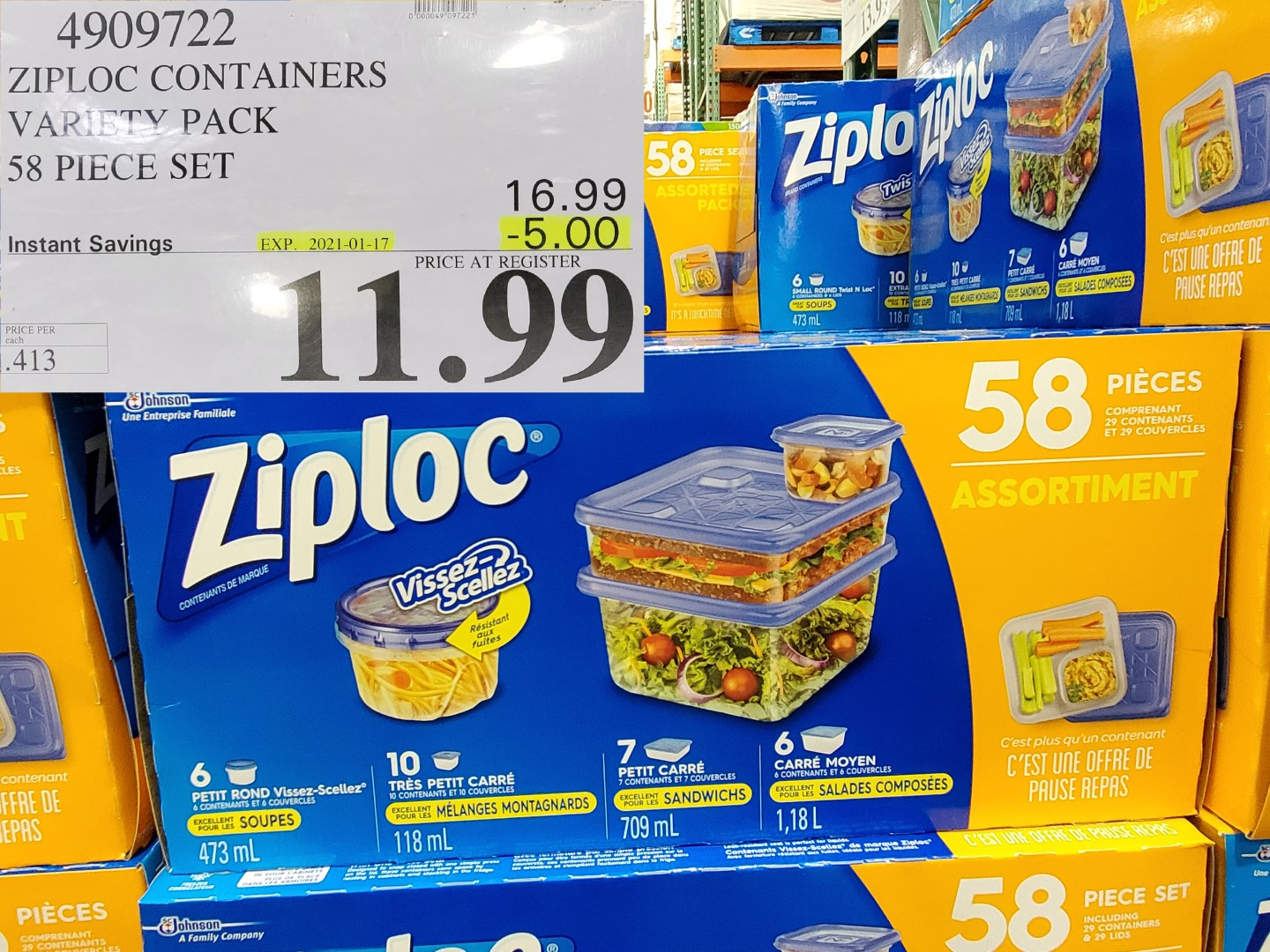 Costco Sale ziploc container set
