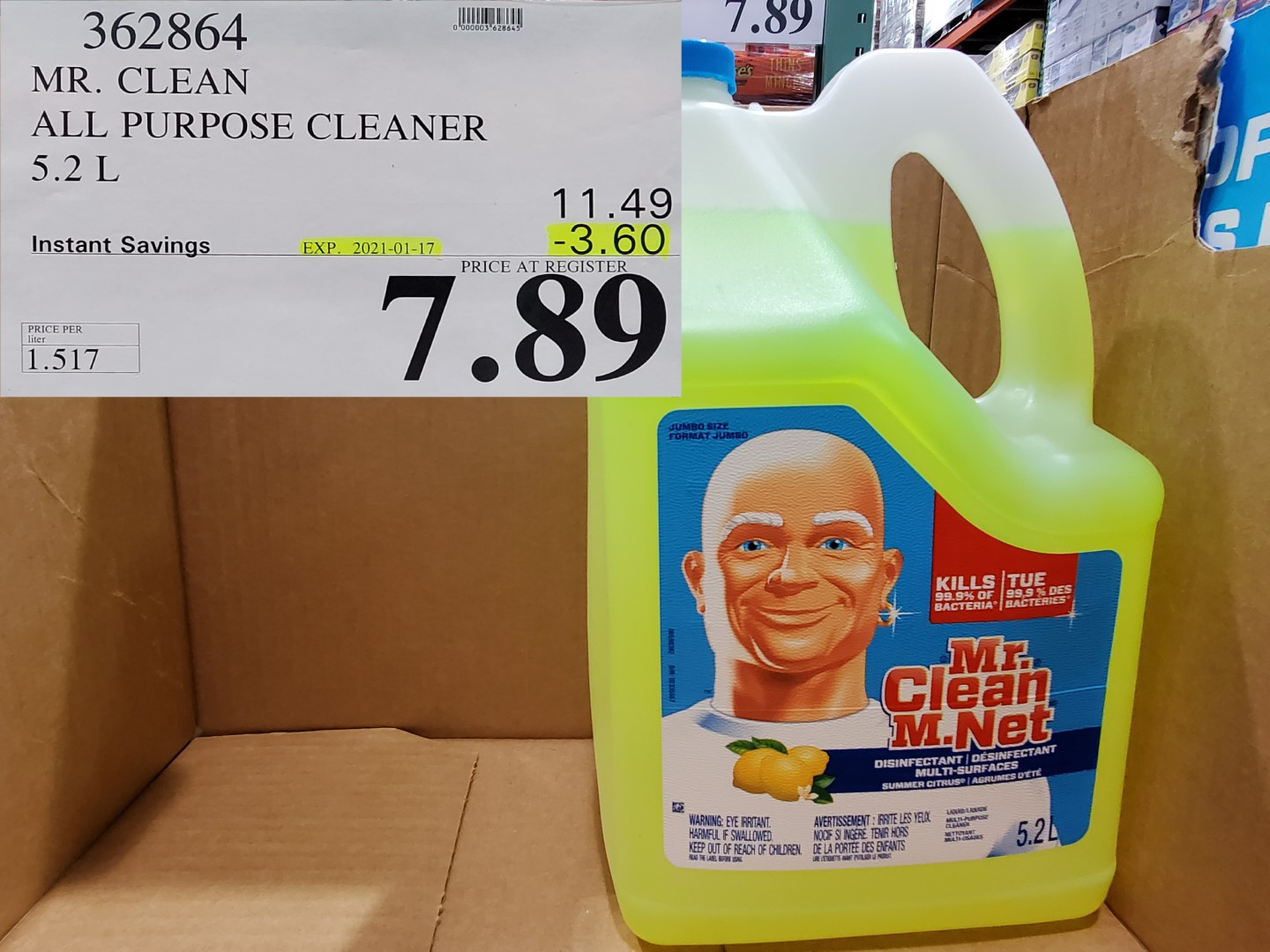 Costco Sale mr.clean disinfectant