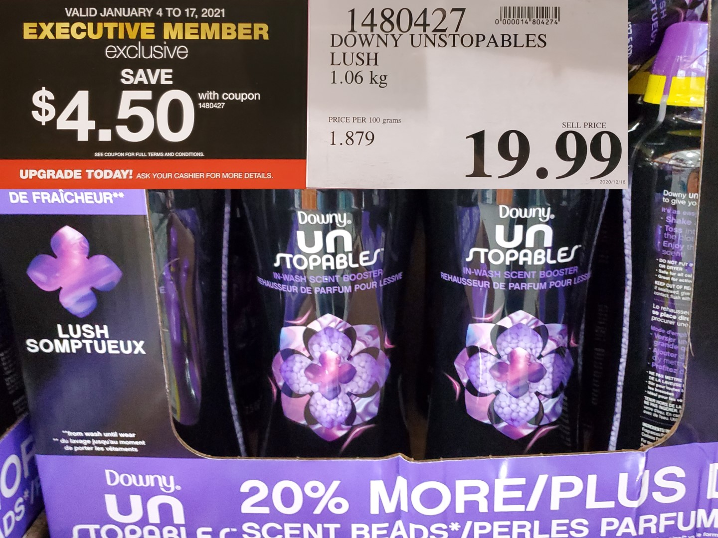 Costco Sale downy unstoppables