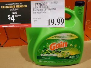 Costco Sale gain laundry detergent