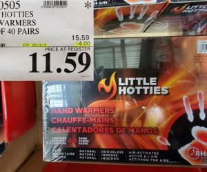 cOSTCO WEEKEND SALES LITTLE HOTTIES HAND WARMERS