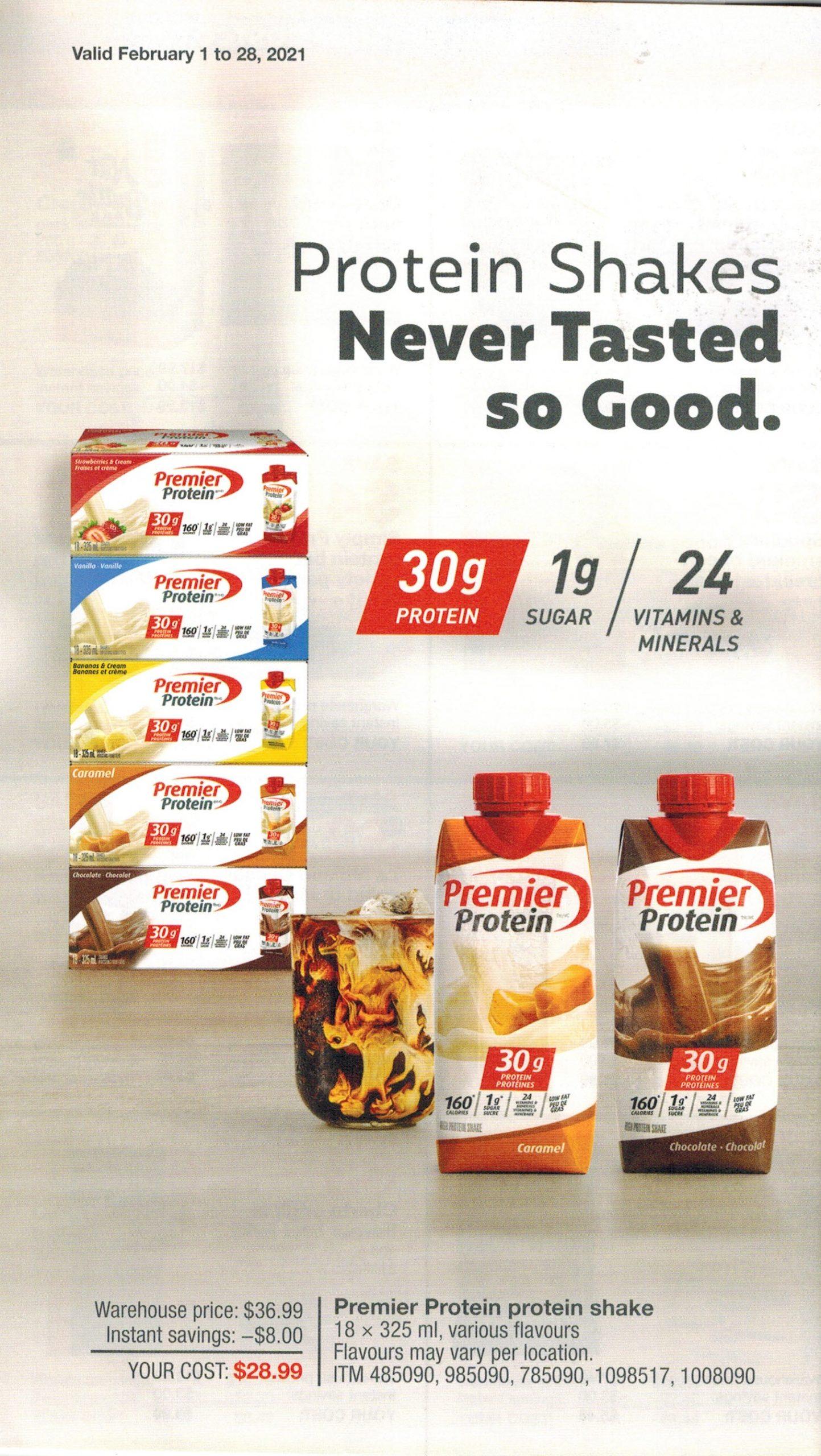 premier nutrition protein shake