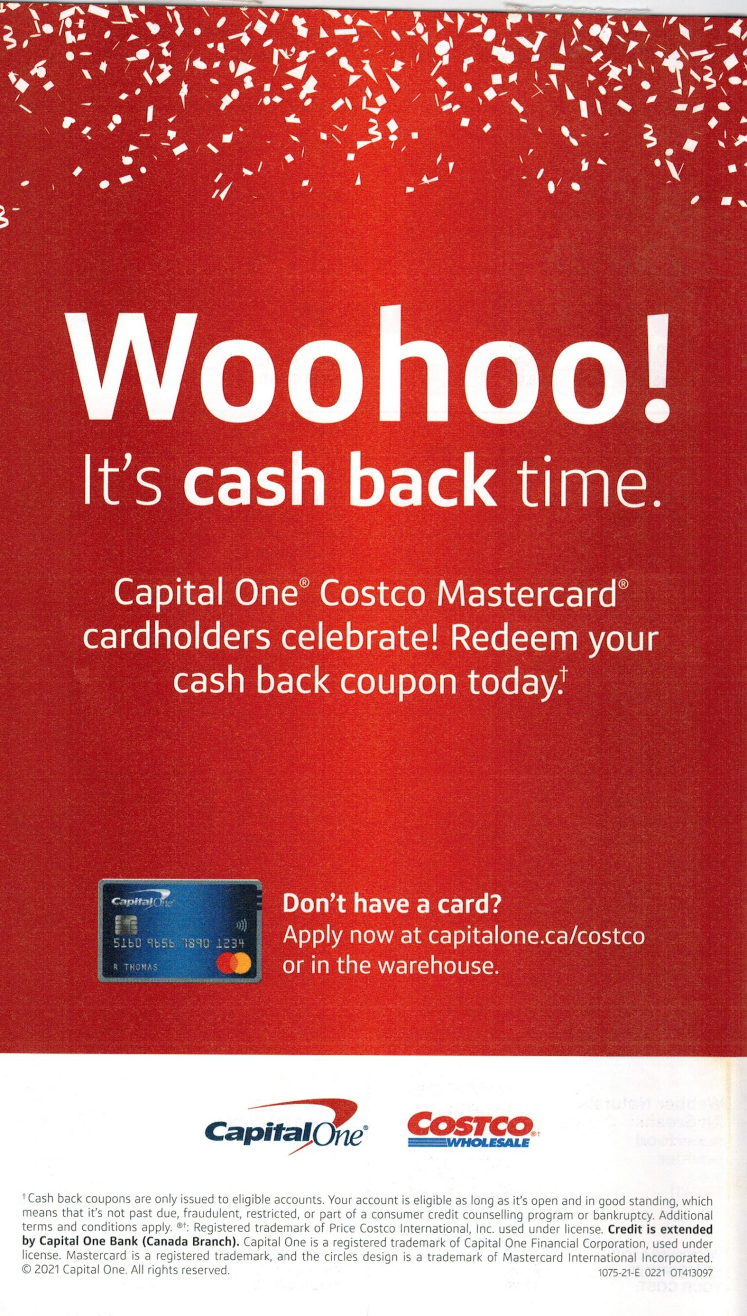 captial one mastercard cash back