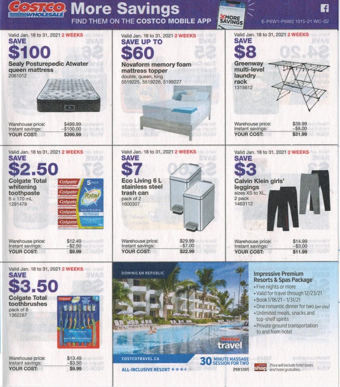 Costco flyer sales Jan 18th - 31st 2021