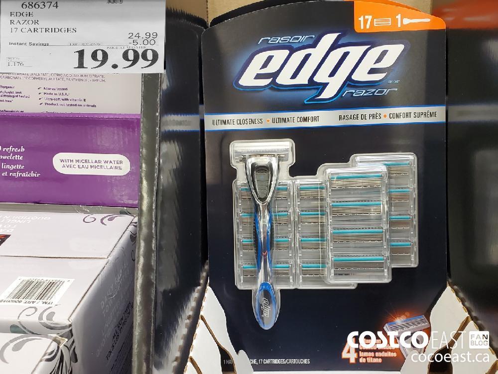 686374 EDGE RAZOR 17 CARTRIDGES EXPIRY DATE: 2021-02-28 $19.99