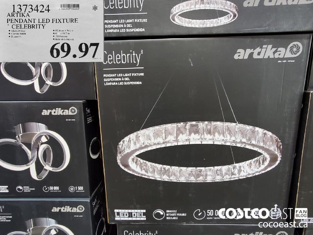 1373474 ARTIKA PENDANT LED FIXTURE - CELEBRITY $69.97