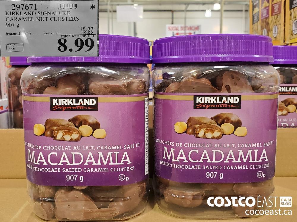 297671 KIRKLAND SIGNATURE CARAMEL NUT CLUSTERS EXPIRY DATE: 2021-02-21 $8.99