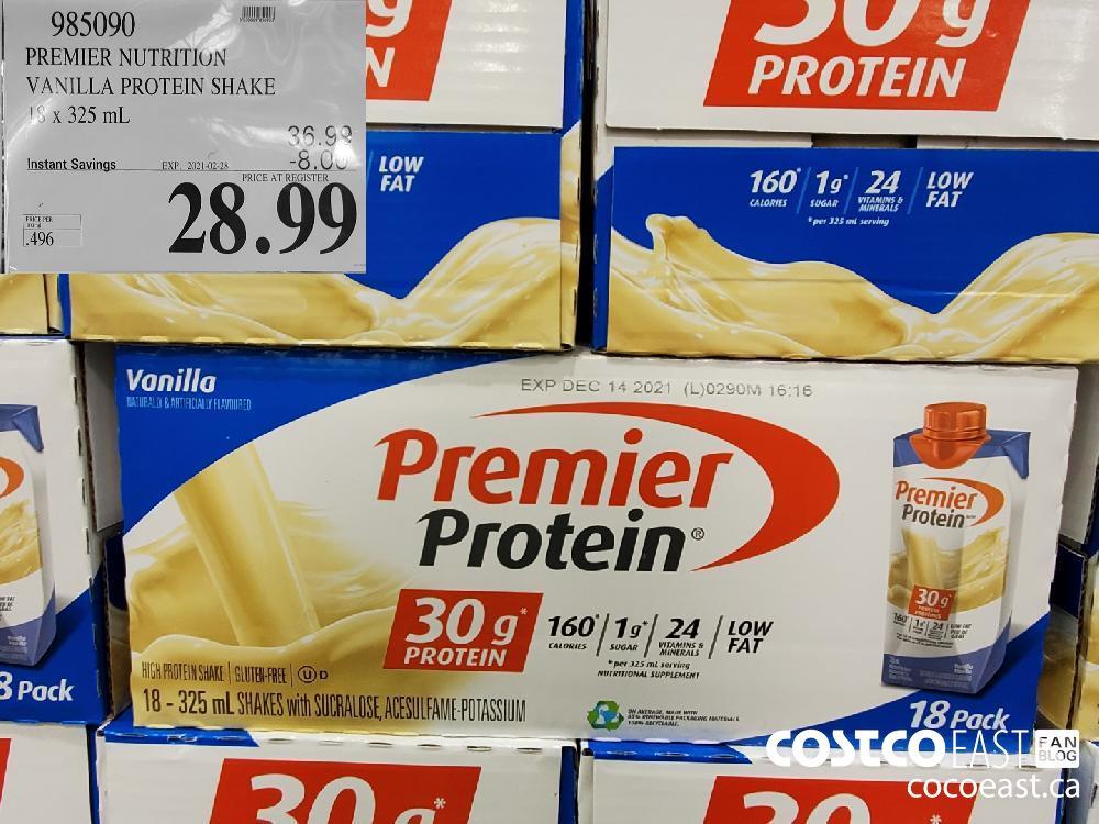 985090 PREMIER NUTRITION VANILLA PROTEIN SHAKE 18 X 325ML EXPIRY DATE: 2021-02-28 $28.99