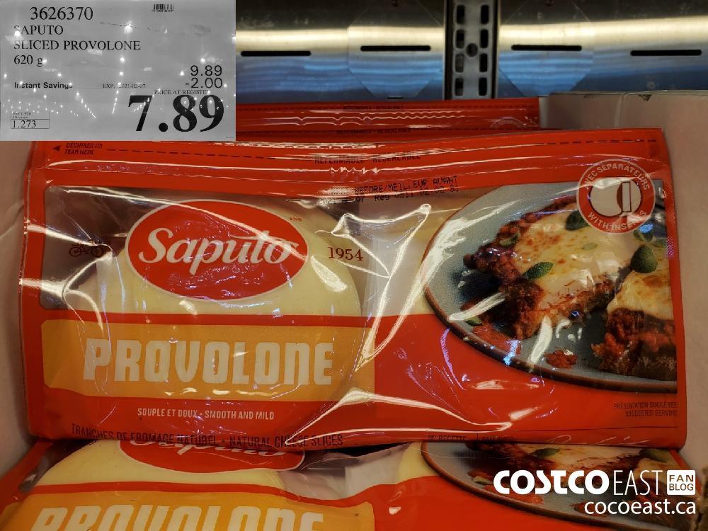 3626370 SAPUTO SLICED PROVOLONE 620 G EXPIRY DATE: 2021-02-07 $7.89