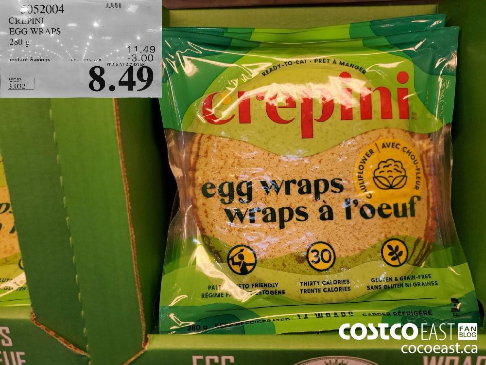 5052004 CREPINI EGG WRAPS 230 G EXPIRY DATE: 2021-02-28 $8.49