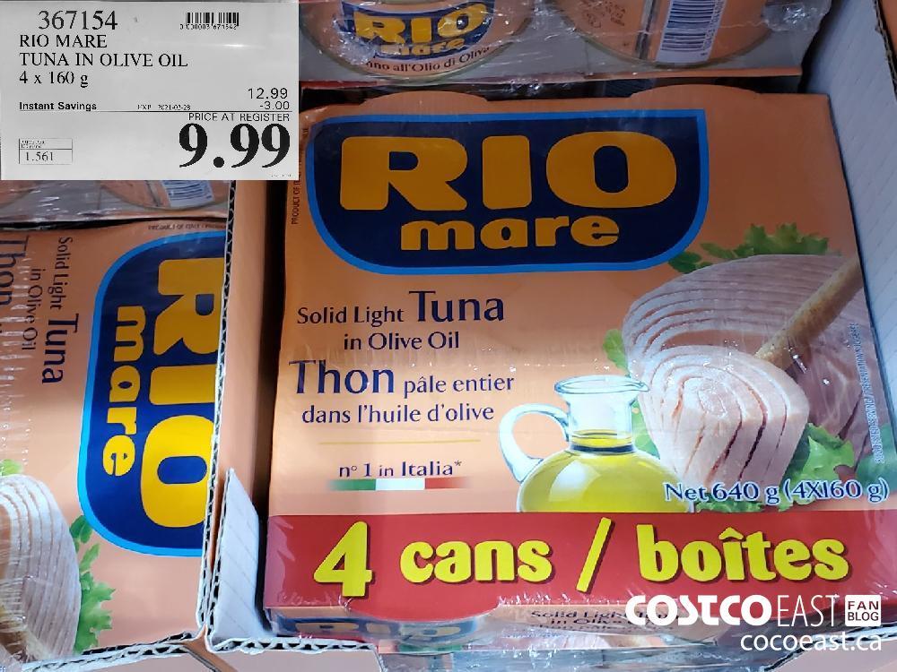 367154 RIO MARE TUNA IN OLIVE OIL 4x 160 g EXPIRY DATE: 2021-02-28 $9.99