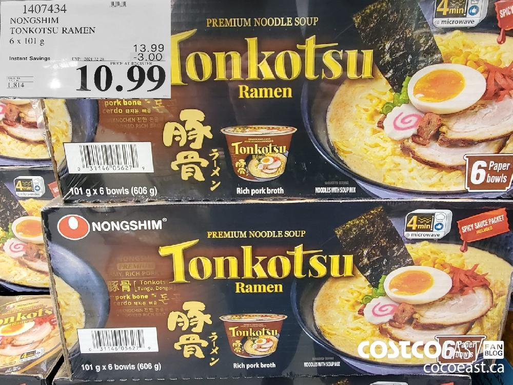 1407434 NONGSHIM TONKOTSU RAMEN 6 x 101g EXPIRY DATE: 2021-02-28 $10.99