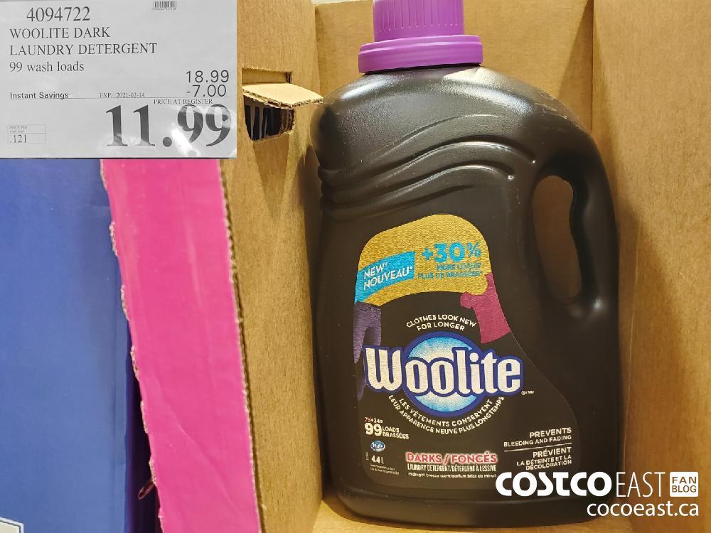 4094722 WOOLITE DARK LAUNDRY DETERGENT 99 wash loads EXPIRY DATE:2021-02-14 $11.99