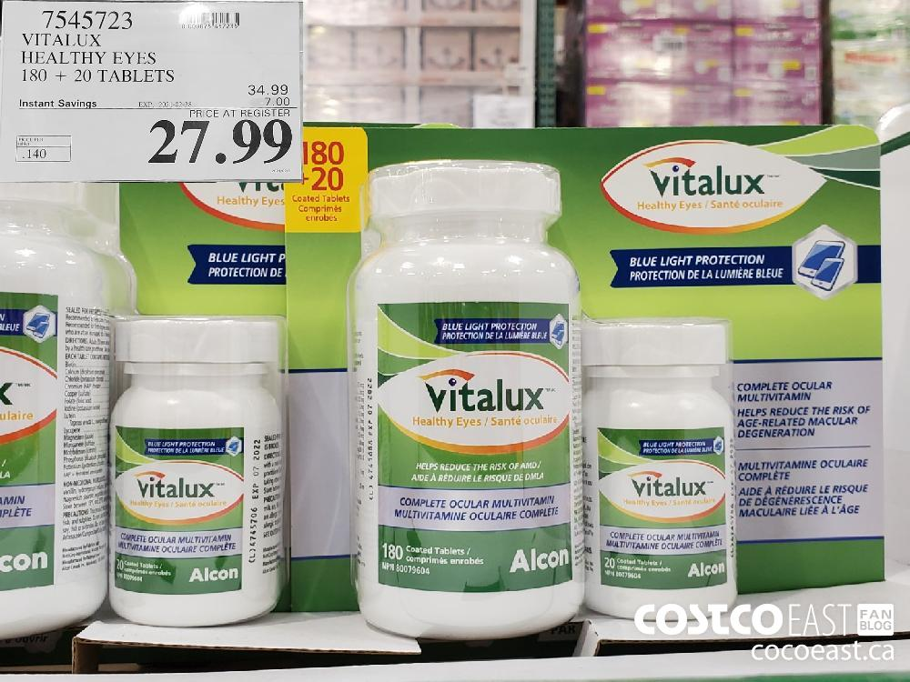 1945723 VITALUX HEALTHY EYES 180 20 TABLETS EXPIRY DATE: 2021-02-28 $27.99