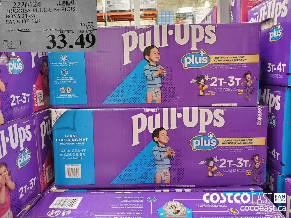 2226124 HUGGIES PULL-UPS PLUS BOYS 2T-31 PACK OF 128 EXPIRY DATE: 2021-02-28 $33.49