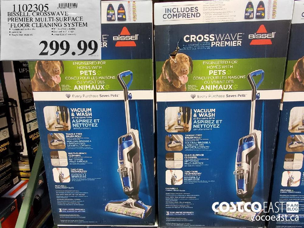1102305 BISSELL CROSSWAVE PREMIER MULTI-SURFACE FLOOR CLEANING SYSTEM $299.99