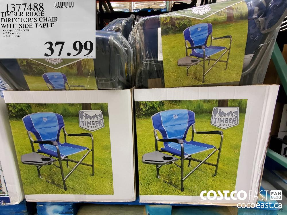 1377488 TIMBER RIDGE DIRECTOR'S CHAIR WITH SIDE TABLE $37.99