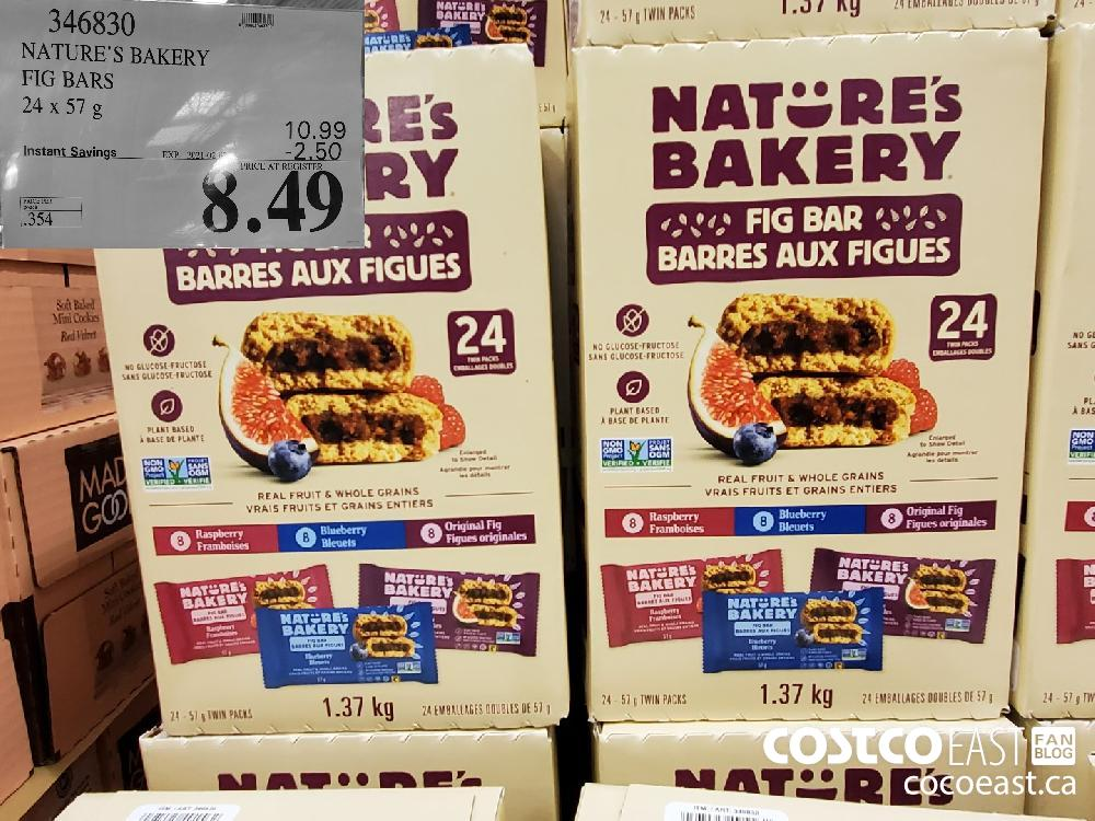 346830 NATURE'S BAKERY FIG BARS 24 X 57G EXPIRY DATE: 2021-02-07 $8.49