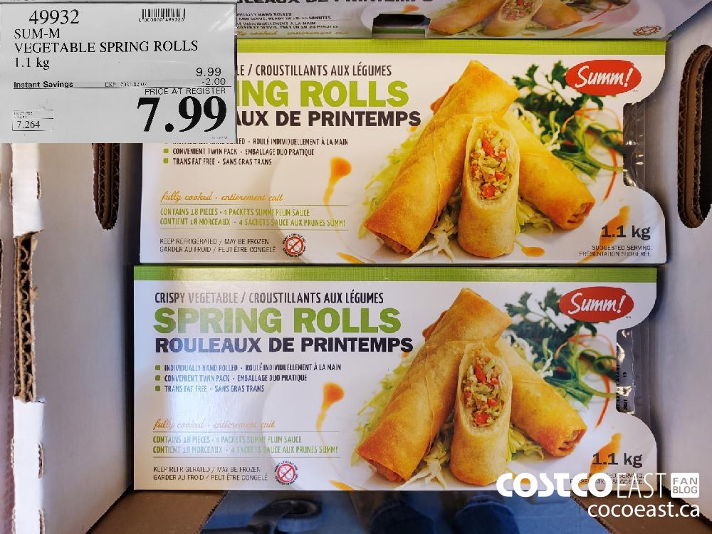 49932 SUM-M VEGETABLE SPRING ROLLS 1.1KG EXPIRY DATE: 2021-02-07 $7.99