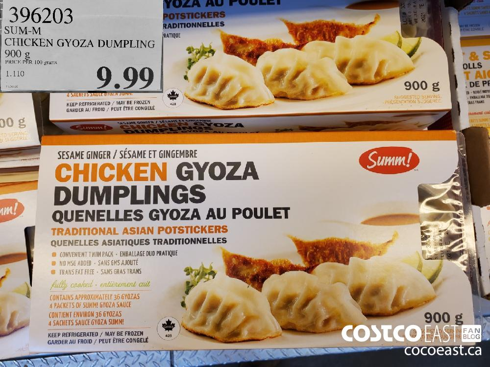 396203 CHICKEN GYOZA DUMPLING | 900G PRICE PER 100 grams $9.99