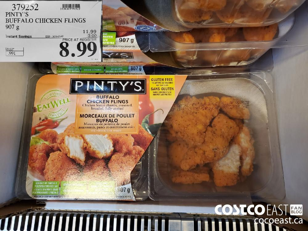 379252 PINTY'S BUFFALO CHICKEN FLINGS 907 g EXPIRY DATE: 2021-02-07 $8.99