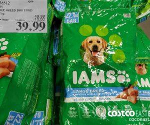 38342IAMSLARGE BREED DOG FOOD22.7 kG49.99EXPIRY DATE: 2021-02-28$39.99