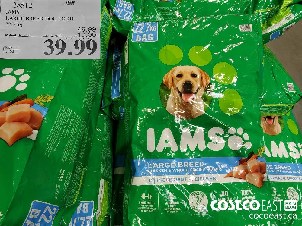 38342 IAMS LARGE BREED DOG FOOD 22.7 kG 49.99 EXPIRY DATE: 2021-02-28 $39.99