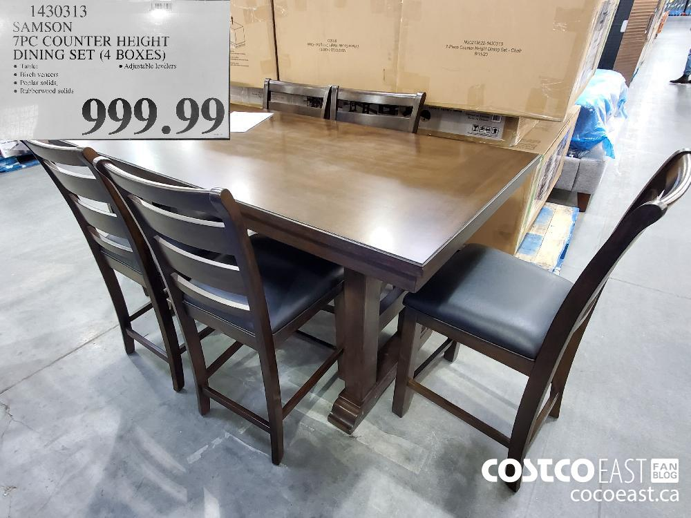 1430313 SAMSON 7PC COUNTER HEIGHT DINING SET (4 BOXES) $999.99