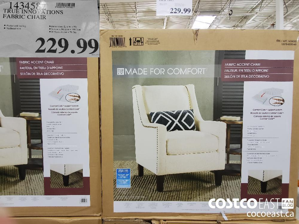1434582 TRUE INNOVTIONS FABRIC CHAIR $229.99
