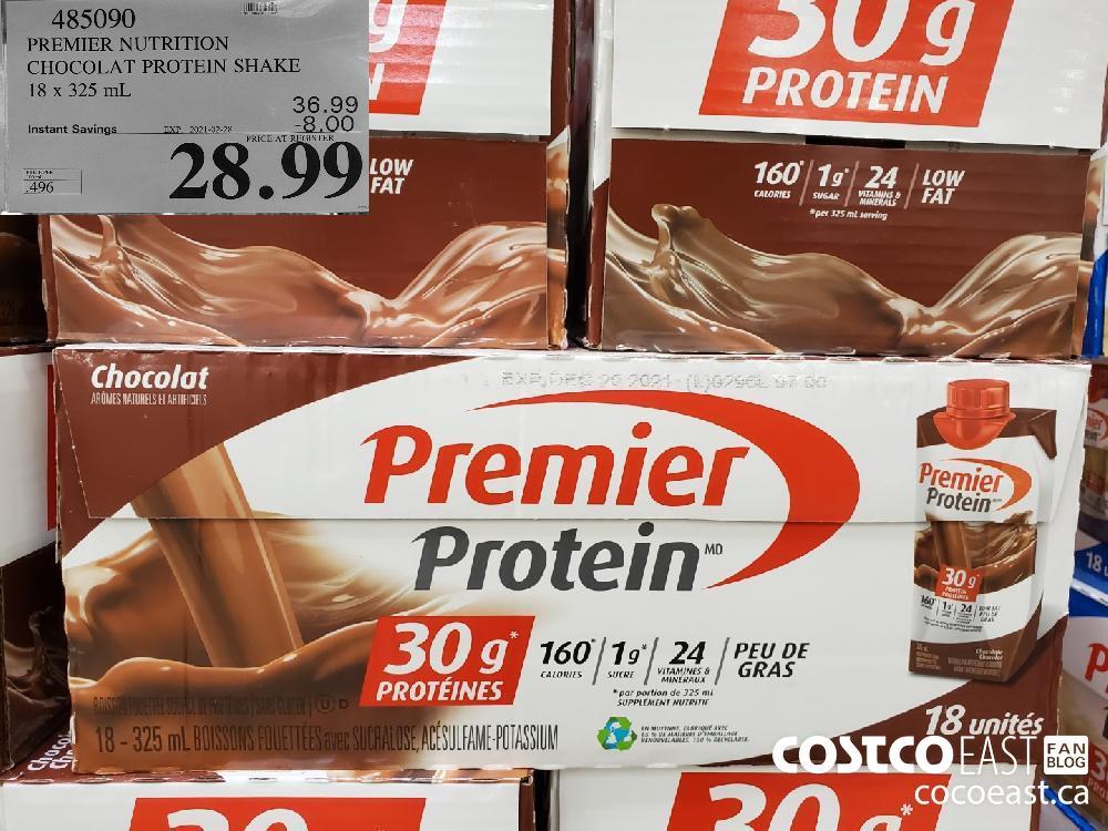 485090 PREMIER NUTRITION CHOCOLAT PROTEIN SHAKE 18 x 325 mL EXPIRY DATE: 2021-02-28 $28.99