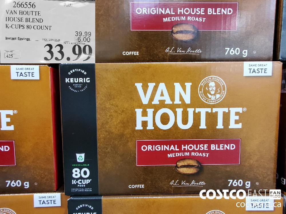 266556 VAN HOUTTE HOUSE BLEND K-CUPS 80 COUNT EXPIRY DATE: 2021-02-28 $33.99