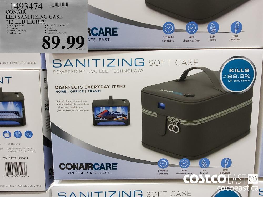 "1493474 CONAIR LED SANITIZING CASE ""12 LED LIGHTS $89.99"