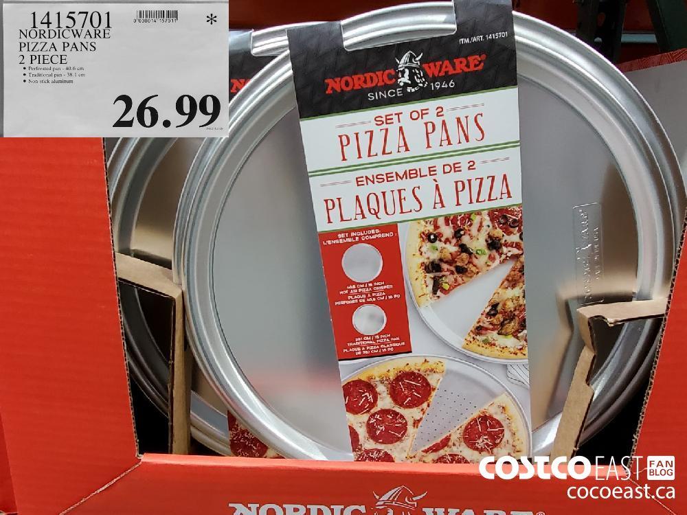 1415701 NORDICWARE PIZZA PANS 2 PIECE $26.99