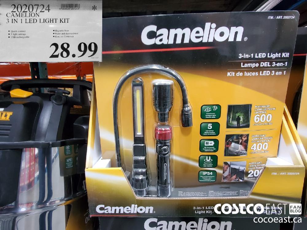 2020724 CAMELION 3 IN 1 LED LIGHT KIT $28.99