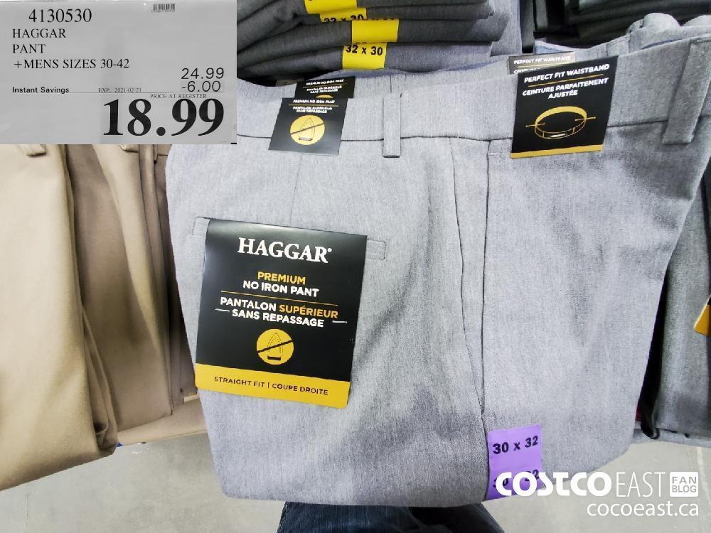 4130530 HAGGAR PANT MENS SIZES 30-42 EXPIRY DATE: 2021-02-2 $18.99