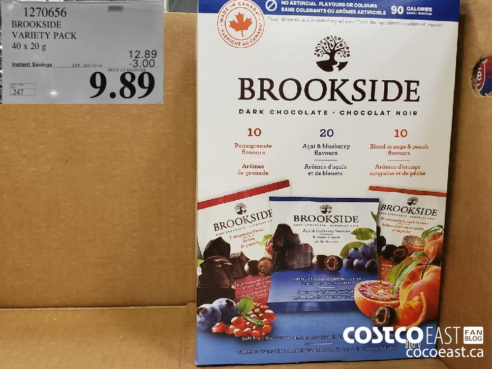 1270656 BROOKSIDE VARIETY PACK 40 x 20 g EXPIRY DATE: 2021-02-14 $9.89