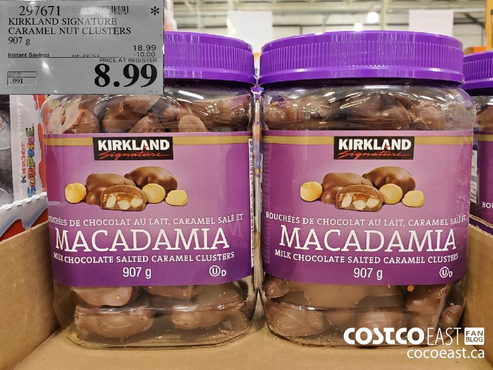 297671 KIRKLAND SIGNATURE CARAMEL NUT CLUSTERS 907 G EXPIRY DATE: 2021-02-21 $8.99