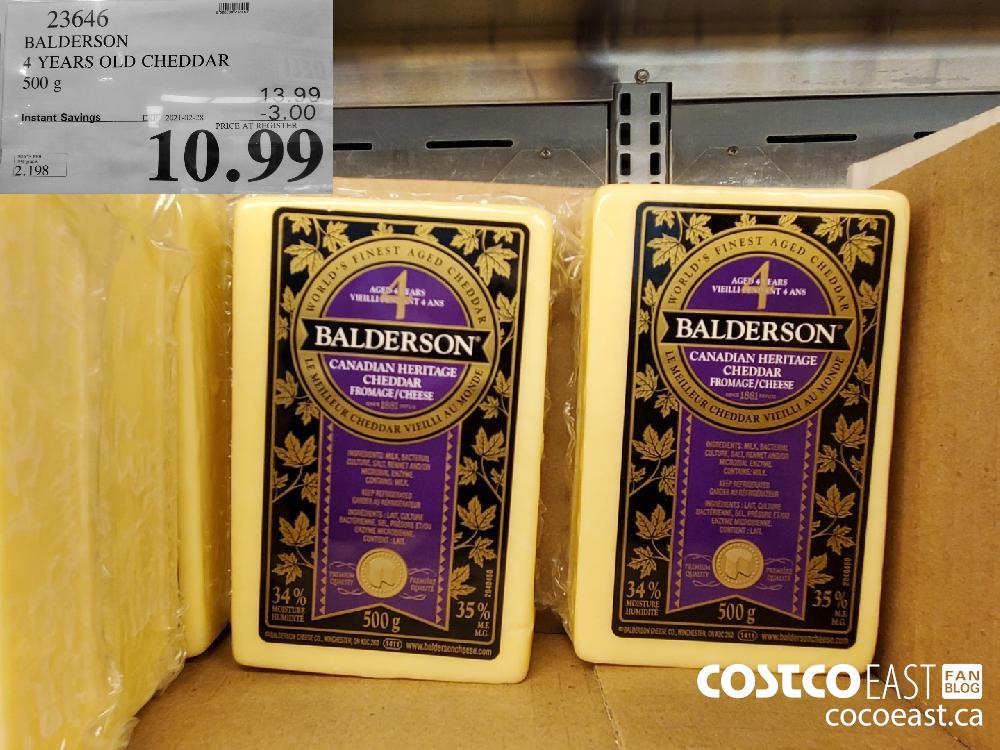 23646 BALDERSON 4 YEARS OLD CHEDDAR 500 g EXPIRY DATE: 2021-02-28 $10.99