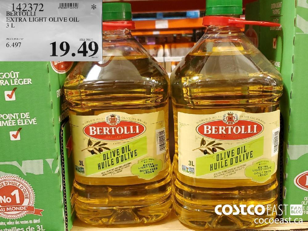 142372 BERTOLLI EXTRA LIGHT OLIVE OIL 3 L $19.49