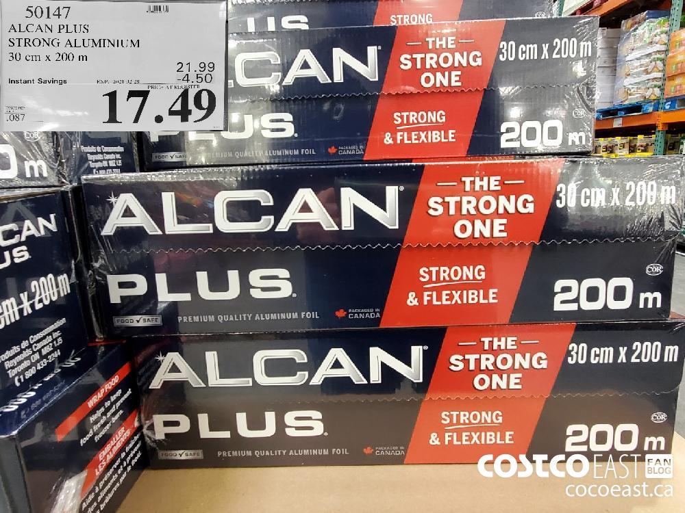 50147 ALCAN PLUS STRONG ALUMINIUM 30 Cm x 200 m EXPIRY DATE: 2021-02-28 $17.49