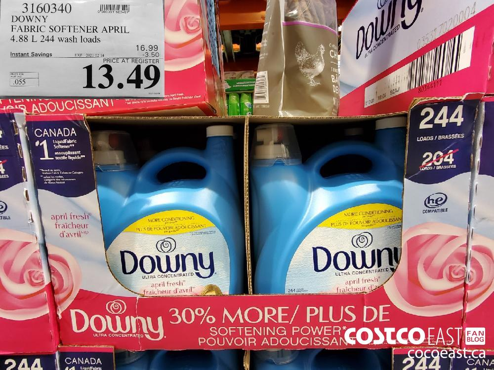 3160340 DOWNY FABRIC SOFTENER APRIL 4.88 L 244 WASH LOADS EXPIRY DATE: 2021-02-14 $13.49