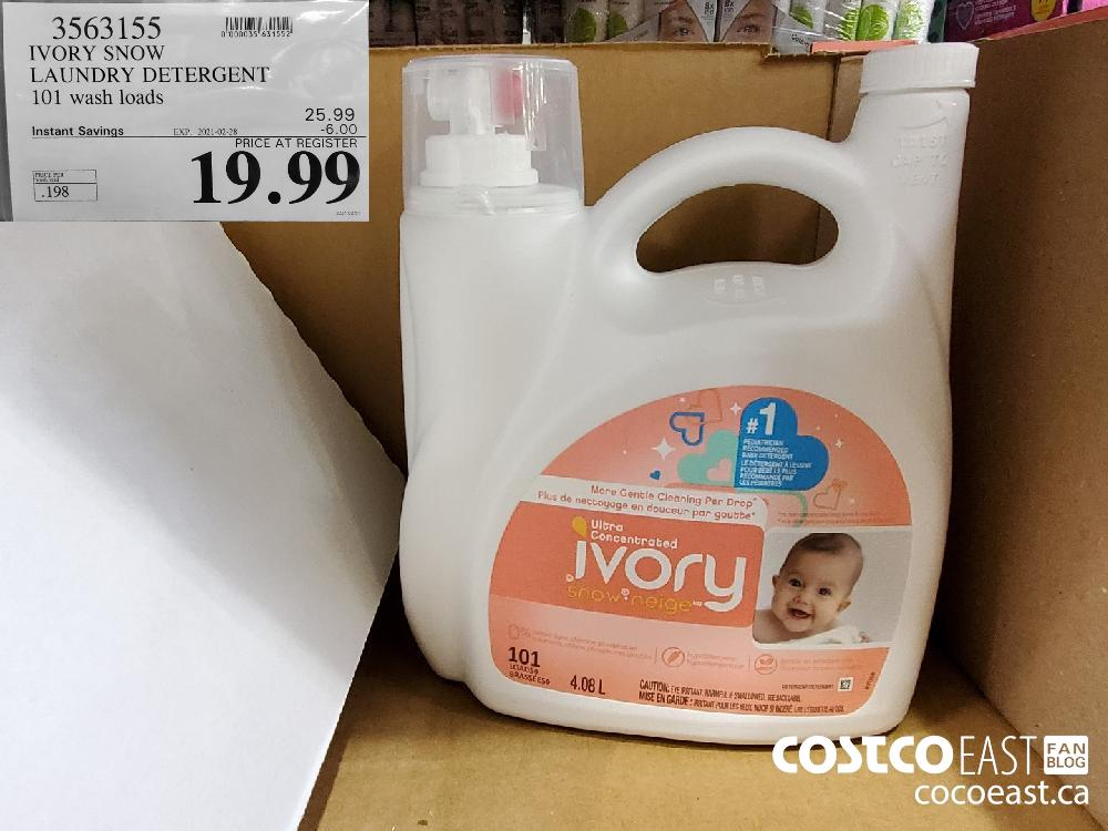 3563155 IVORY SNOW LAUNDRY DETERGENT 101 wash loads EXPIRY DATE: 2021-02-28 $19.99