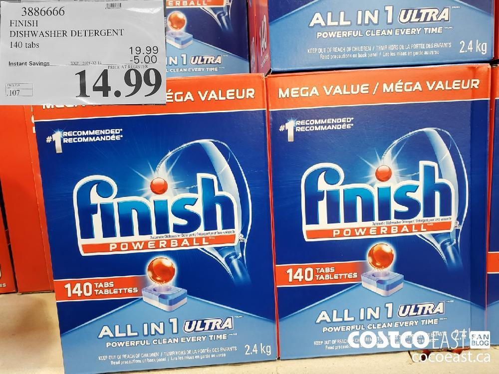 3886666 FINISH DISHWASHER DETERGENT 140 TABS EXPIRY DATE: 2021-02-14 $14.99
