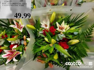 1224127ROSE AND ORIENTAL LILYVALENTINES DAY VASE $49.99